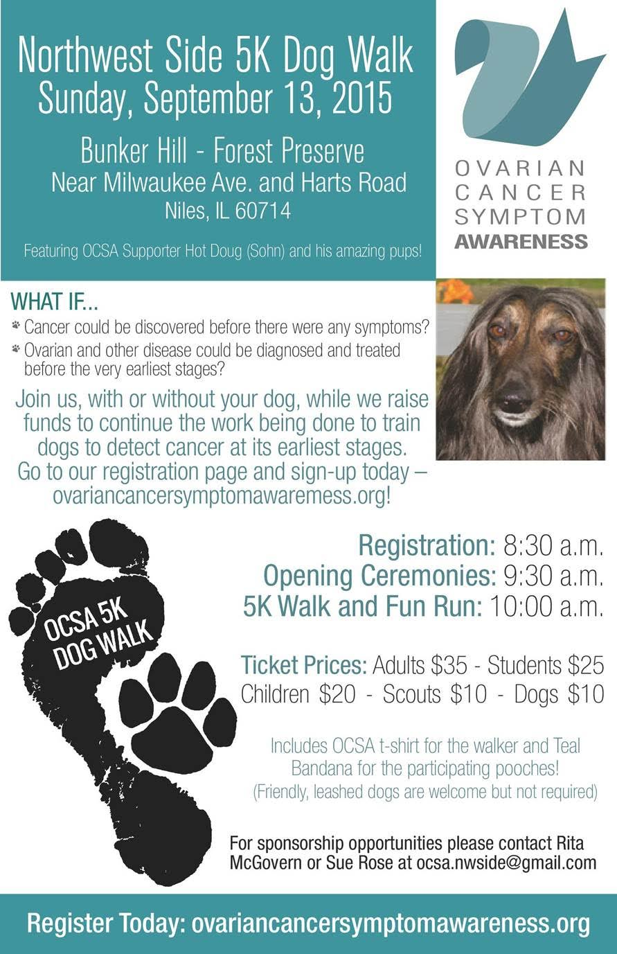 Ovarian Cancer Symptom Awareness Walk